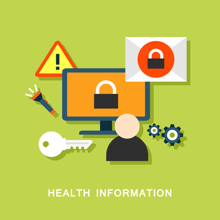 health information: Health information vector image Illustration