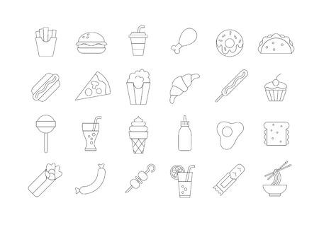 fastfood: Đặt các biểu tượng vector 24 fastfood