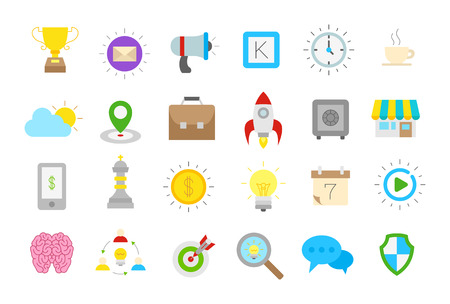 comunity: Set of 24 Web isolated vector icons Illustration