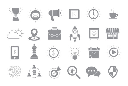 comunity: Set of 24 Web gray vector icons