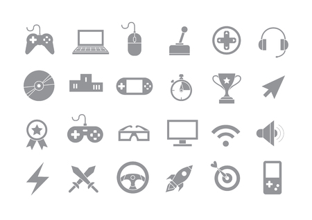 Set of 24 Entertainment gray vector icons