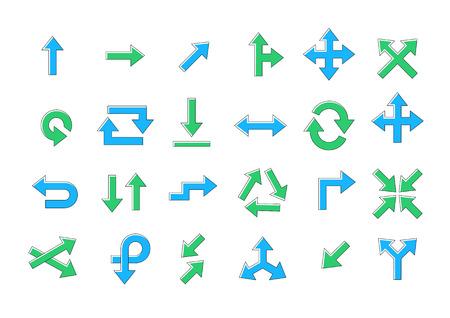 arrow circles: Set of 24 Arrows vector icons