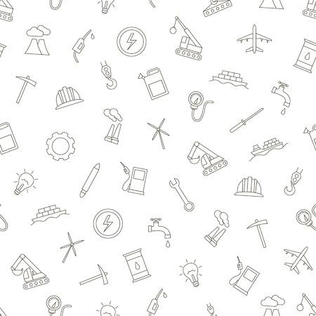 planos electricos: Conjunto de iconos negros del patrón Industy Vectores