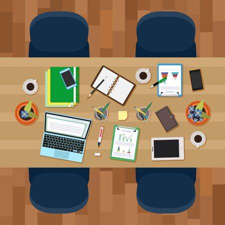workspace: Vector image of Empty workspace