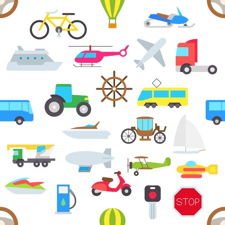 brougham: Set of transport vector pattern stickers Illustration