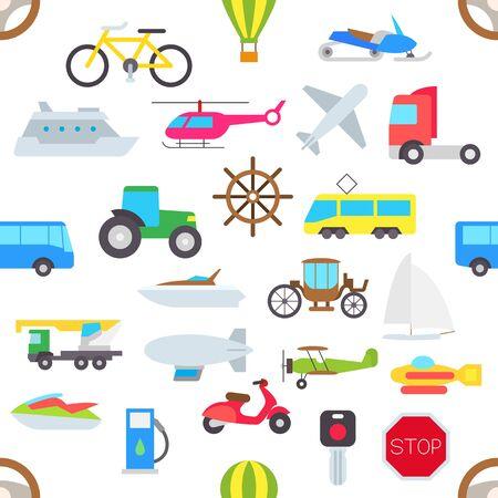 brougham: Set of transport vector pattern stickers Illustration