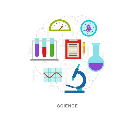 Science icons illiustration vector art