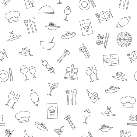 Restaurant and foot icons simple style