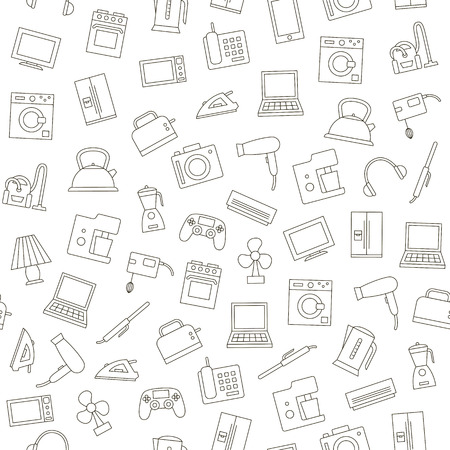 Appliances icons simple style pattern