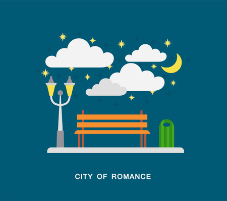 City of romance vector art
