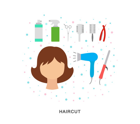 Haircut icons illustration vector art