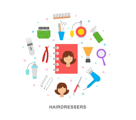 Hairdressers object icons