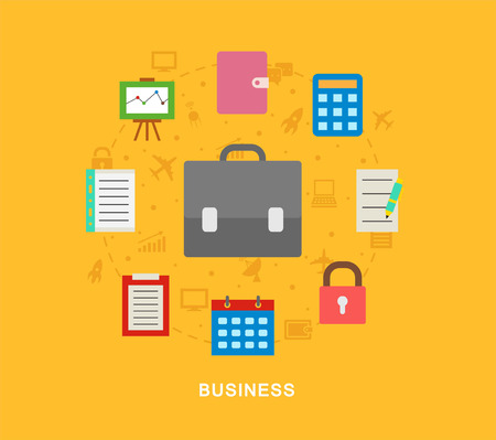 Business icons illustration vector art Illustration