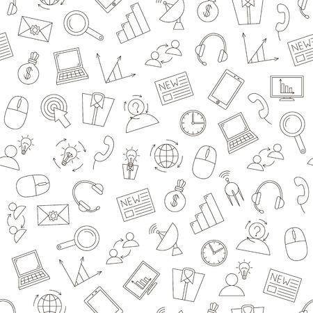 It business icons pattern on white background