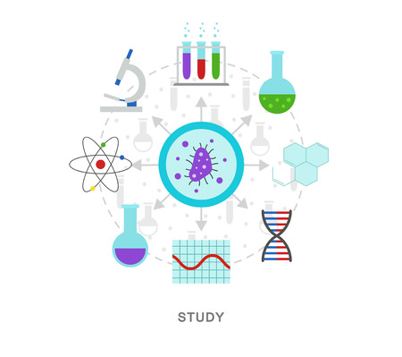 Study lab science vector illustration 向量圖像