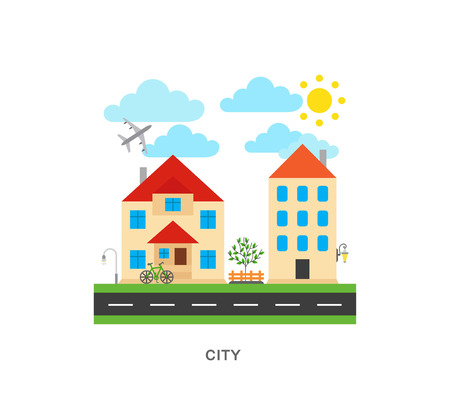 Vector city icons illustration 向量圖像