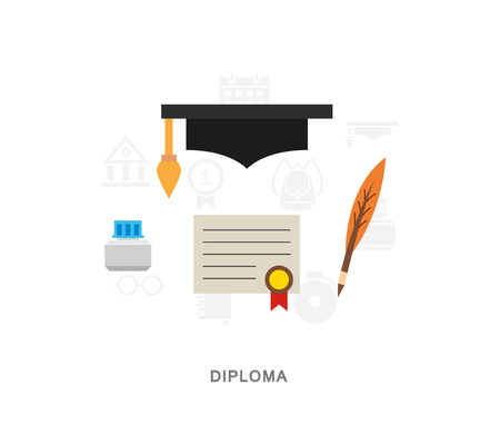 Student diploma vector icon set 向量圖像