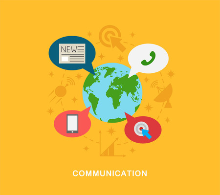 Communication icons illustration art