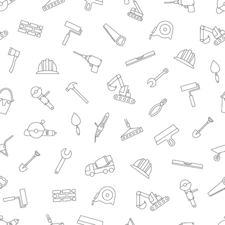 Construction tools icons set style
