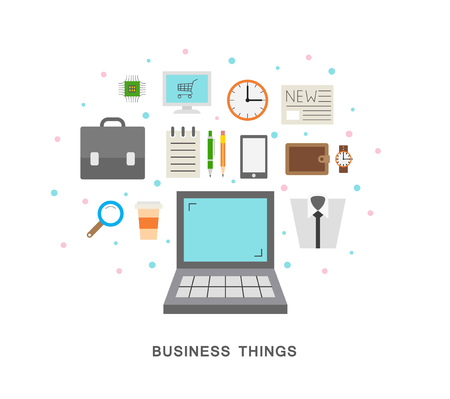 Business things icons vector art 向量圖像