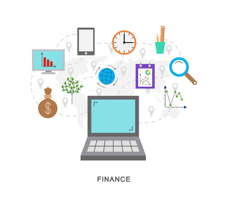 pointers: Finanse icons graphic with pointers