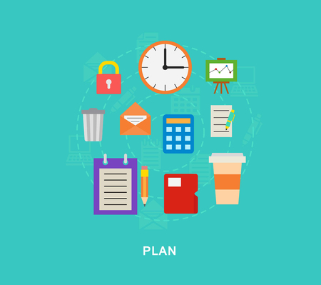 Plan icons illutration vector art