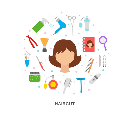 Haircut vector illustration icon art