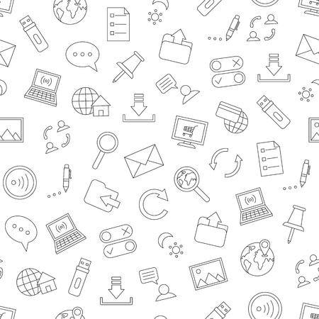 Internet icone di stile fatti a mano Vettoriali