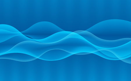 Élément de conception vague numérique abstraite de vecteur. Ondes sonores avec un dégradé. Lignes rougeoyantes. Abstrait bleu Concept technologique Illustration vectorielle Vecteurs