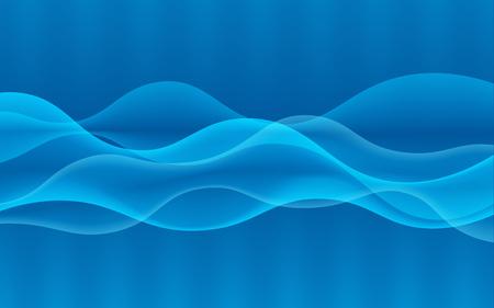 Vector abstracte digitale golf ontwerpelement. Geluidsgolven met een verloop. Gloeiende lijnen. Abstracte blauwe achtergrond. Technologie concept. Vector illustratie.