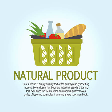 Eco Food Shopping design vector template