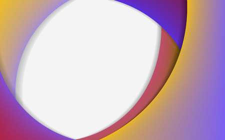 Abstract background with gradient. Colorful horizontal banner in a modern material design style. Curved color lines. Vector illustration