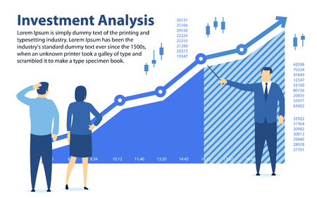 Analysis of investment concept vector illustration