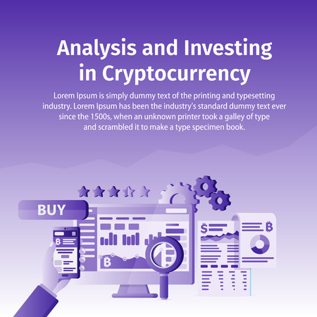 An Analysis and Investing in Crypto currency. Person working on crypto start up.