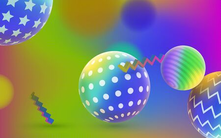 Abstract background for web. Liquid color background design with Fluid gradient shapes. Multicolor gradient. Fashion holographic 3D background. Image for banner and advertising poster. Фото со стока - 132823945