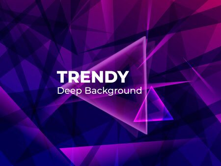 Geometric abstract gradient background design. Modern vector background for banner in dark blue colors. Futuristic design posters. Eps10 vector Фото со стока - 132655590