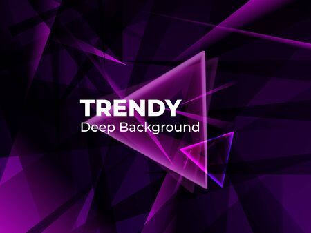 Geometric abstract gradient background design. Modern vector background for banner in dark blue colors. Futuristic design posters. Eps10 vector Фото со стока - 132656114