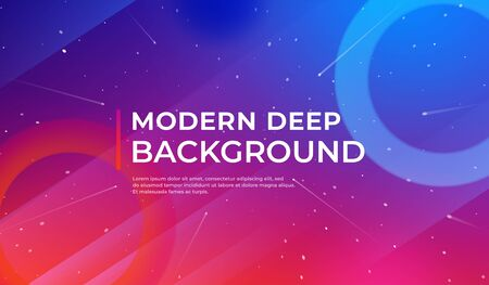 Blue background with dynamic shapes. Fluid shapes composition. Template for advertising, social network page cover, Card, Book Illustration, landing page. Vector illustration.
