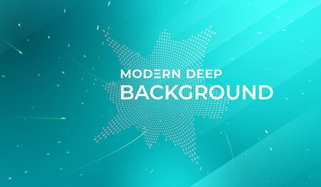 Modern deep background. Fluid shapes composition. Abstract fluid color pattern of neon color liquid gradient background. Template for social network page cover, landing page. Vector illustration. Фото со стока - 138964615