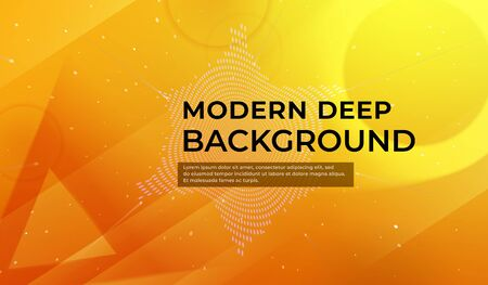 Modern yellow deep background. Fluid shapes composition. Abstract fluid color pattern of neon color liquid gradient background. Template for advertising, social network page cover, landing page.