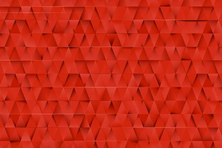 Red triangles abstract background. Business template for advertising, poster, business card and social networks. Small triangles with shadows. Design templates with copy space for text. Vector image.