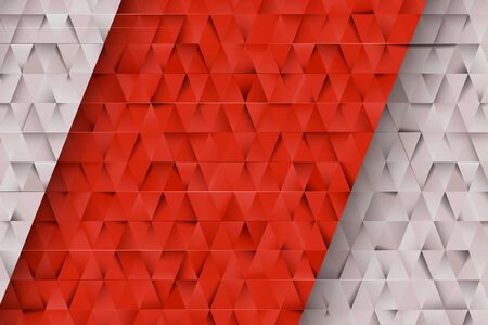 Red and Gray triangles abstract background. Business template for advertising, poster, business card and social networks.  3D minimalist geometric background. Design templates with copy space for text