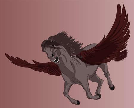 illustration of the mystical creature Pegasus Vettoriali
