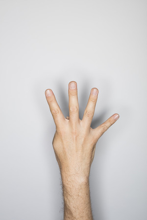 no body language: human hand isolated in the studio
