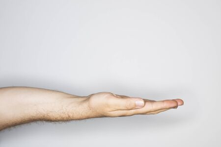 human hand isolated in the studio