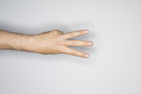 fingers: human hand isolated in the studio