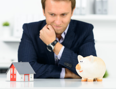 man buying a house