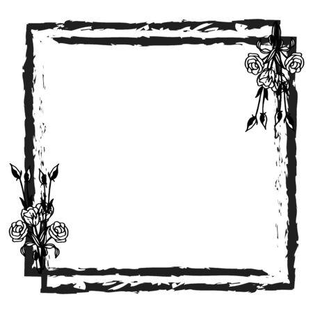 Illustration of flower frame design