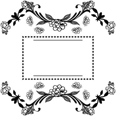 Illustration du cadre floral