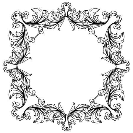 Illustration of floral frame